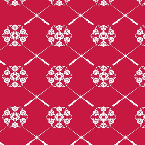 Red Yoda Saber Snowflakes