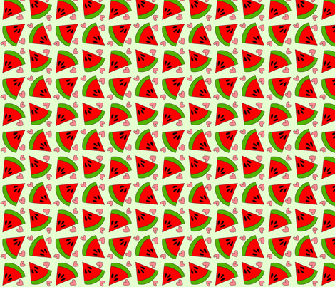 Watermelon Lover fabric by cozyreverie on Spoonflower - custom fabric