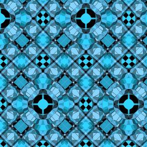 Blueful Chic Discus Tartan