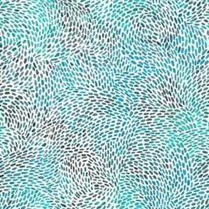 sportive abstrakt in blue and aqua