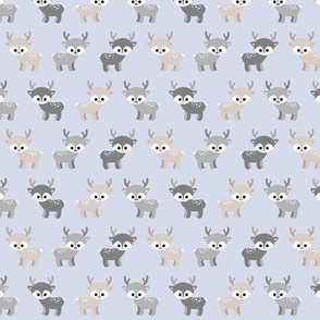 Little deer - grey and blue