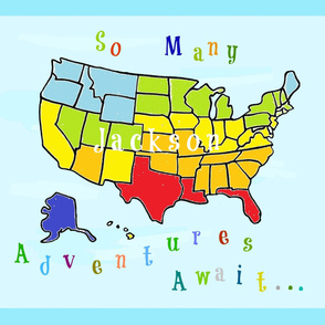 Map USA 42  Many Adventures - PESONALIZED