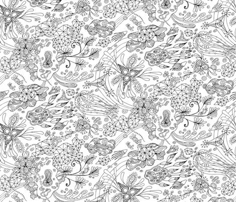 Botanical Traingulation fabric by nellik on Spoonflower - custom fabric