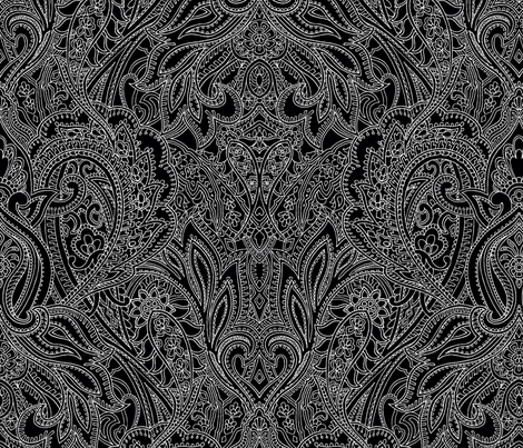 eb4afd18dda Paisley-Power-paisley-lace-mirror-outline-black-white-print-fabric-design  fabric - paisleypower - Spoonflower