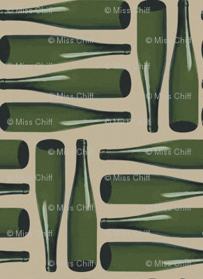 16-20P French Wine Bottles France Paris picnic food beverage party_Miss Chiff Designs