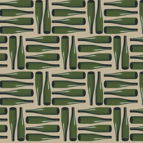 16-20P French Wine Bottles France Paris picnic food beverage party_Miss Chiff Designs fabric by misschiffdesigns on Spoonflower - custom fabric