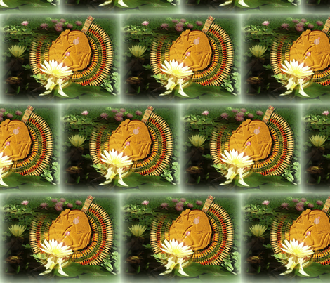Lotus Lady fabric by little_egypt on Spoonflower - custom fabric