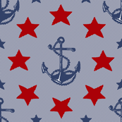 Anchors_And_Stars_cranberry_red