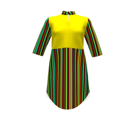 BN12  Variegated Stripes of yellow, green, orange and rust