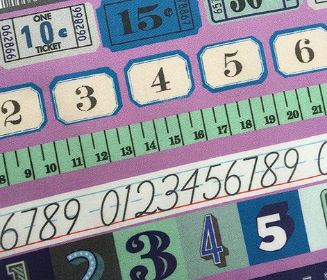 Washi Numbers* (Lavender Disaster) || deco stripes tickets ruler measuring asl sign language school upc codes