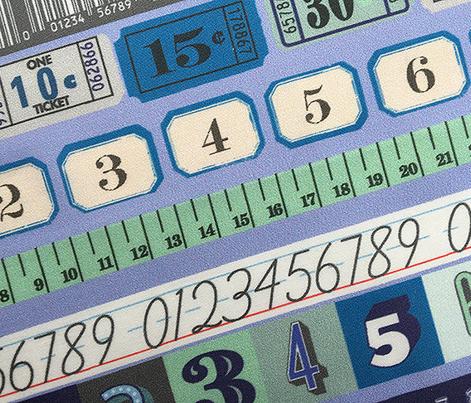 Washi Numbers* (Ultraviolet) || deco stripes tickets ruler measuring asl sign language school upc codes