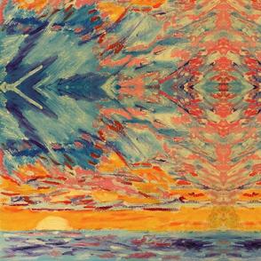 Ocean Sunrise Absract