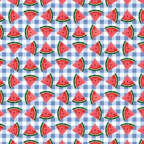 Watermelons-BlueGingham