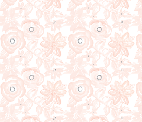 Spring Garden Watercolor Floral in Blush Pink fabric by sugarfresh on Spoonflower - custom fabric