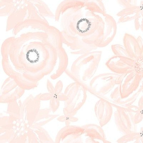 Spring Garden Watercolor Floral in Blush Pink