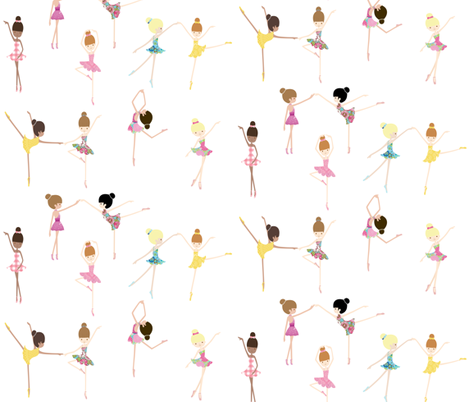Born to Dance the Ballet fabric by babyancestree on Spoonflower - custom fabric