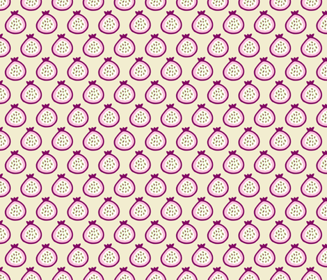 Summer fruit garden tropical passion fruit fig  and dragon fruit pink fabric by littlesmilemakers on Spoonflower - custom fabric