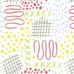 doodle mark pattern