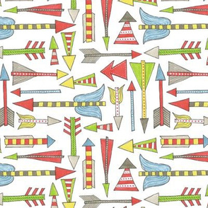 bright hand drawn arrow pattern
