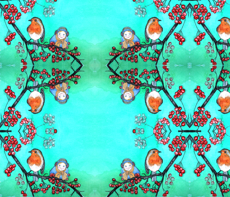 Robin Surprise fabric by natasha_lee_designs on Spoonflower - custom fabric