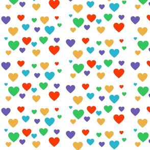 R+F inspired Multi Hearts Fabric