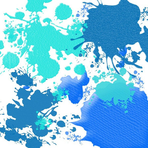 Ink Splatter in Blue