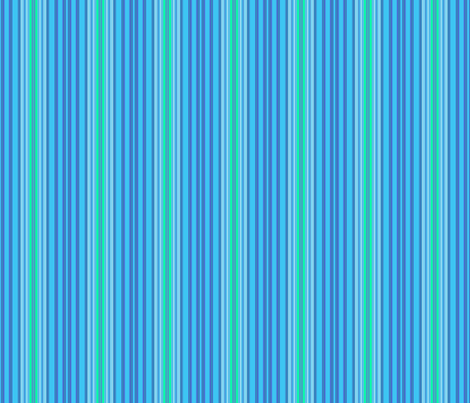 Blue and Green Stripe fabric by gingezel on Spoonflower - custom fabric