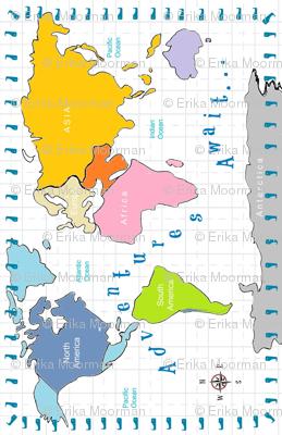 Map world Adventures 20 Vertical - Continent