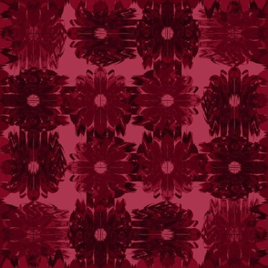 Winded Flowers Quilt Red Black
