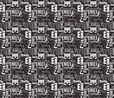 Emily fabric by pamelachi on Spoonflower - custom fabric