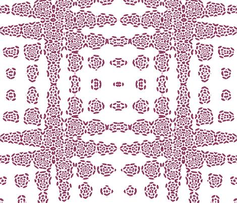 Rose on White Fluttering Zig-Zag fabric by jcartermckinley on Spoonflower - custom fabric