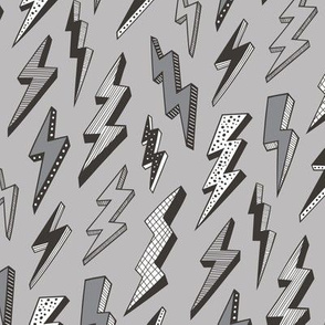 Bolt Lighting Comic Superhero Bolts in Grey