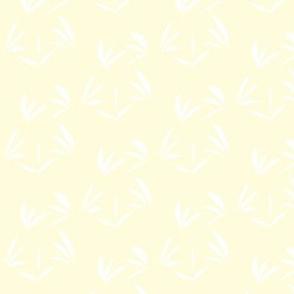 Snowy White Oriental Tussocks on Magnolia Cream
