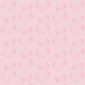 Fairy  Blush Oriental Tussocks on Pearl Lustre - Small Scale