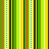 Bella Nina 5 - Vertical Variegated Pinstripe in Green, Yellow and Brown