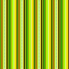 BN5 -LW  Pinstripes  in Green, Yellow and Brown