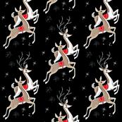 Mid Century Reindeer - Black