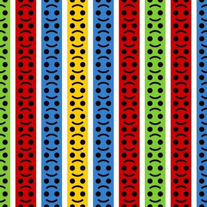smiley face family stripe 4in6