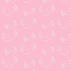 Pearl Lustre Oriental Tussocks on Fairy Blush Pink - Medium Scale