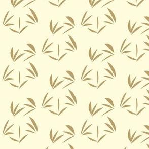 Taupe Oriental Tussocks on Magnolia Cream