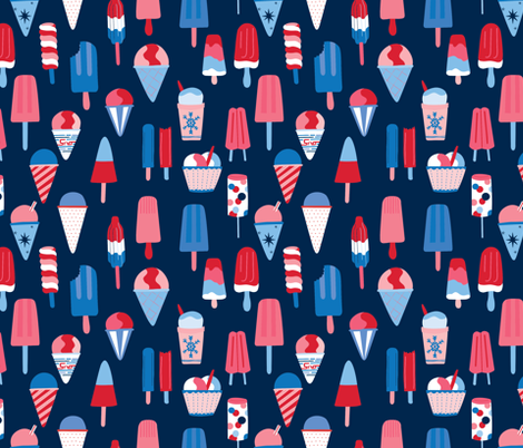 Ice Ice Baby fabric by abbyhersey on Spoonflower - custom fabric
