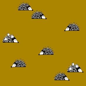 Hedgehogs - mustard