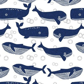 whales // whale ocean animals stamps block print kids baby cute