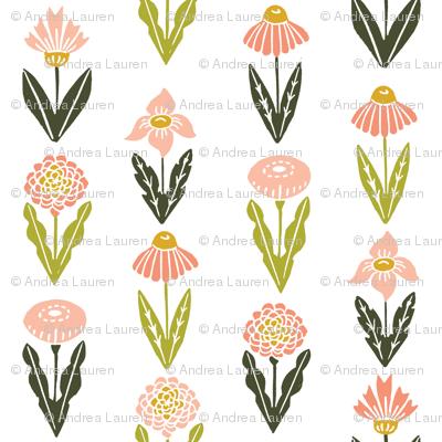 botanica // flowers florals flower blush peach pastel girls nursery baby sweet