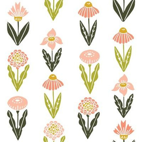 botanica // flowers florals flower blush peach pastel girls nursery baby sweet