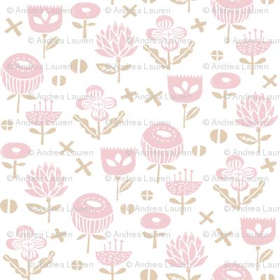 flowers // pink baby nursery sweet flowers florals