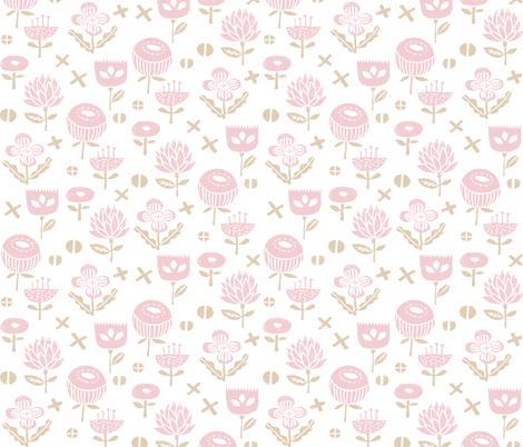 flowers // pink baby nursery sweet flowers florals fabric by andrea_lauren on Spoonflower - custom fabric