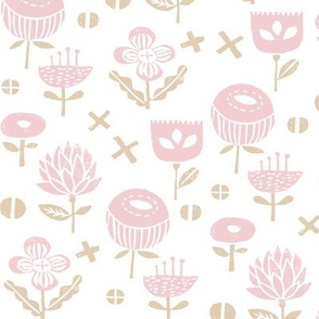 flowers // pink baby nursery sweet flowers florals