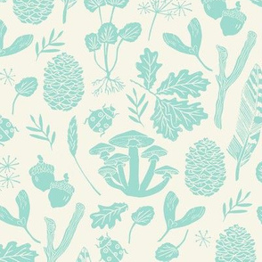 fall nature walk // mint cream kids baby sweet botanical nature fall leaves acorns