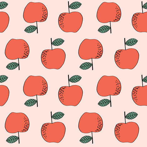 apple // apples fruit fruits orchard sweet  fabric by andrea_lauren on Spoonflower - custom fabric